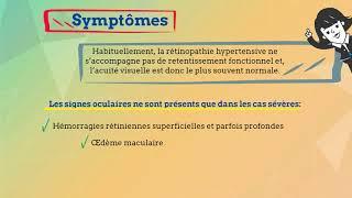 Rétinopathie hypertensive: symptômes et traitement