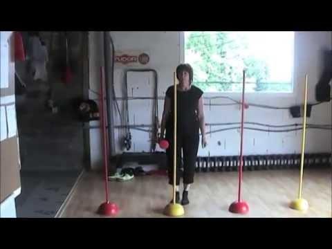 Gym Séniors. Fitness Workout Senior.  Exemples D'exercices. Forme Et Santé