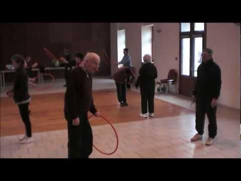 Gym Senior. Fitness Seniors. Sport Santé. Exercices Avec Partenaire. Retraite Sportive Sud Cantal.