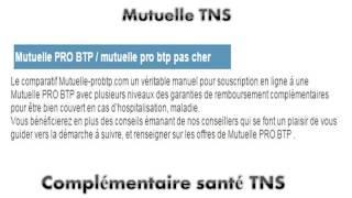 Mutuelle TNS PRO BTP